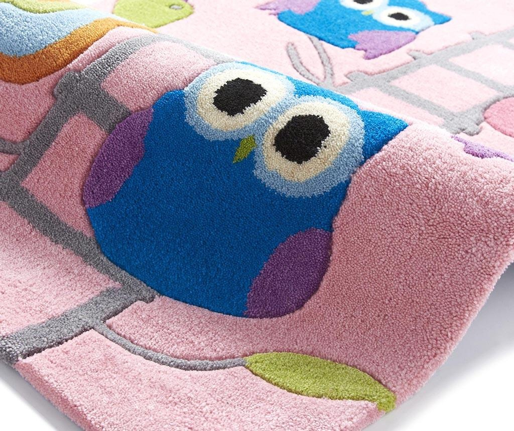 Owl on Ladder Pink Szőnyeg 70x140 cm