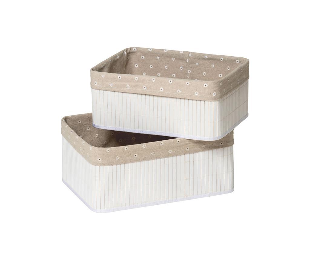Set 2 cutii pentru depozitare Kankyo Dots White - Maison by Premier, Alb de la Maison by Premier