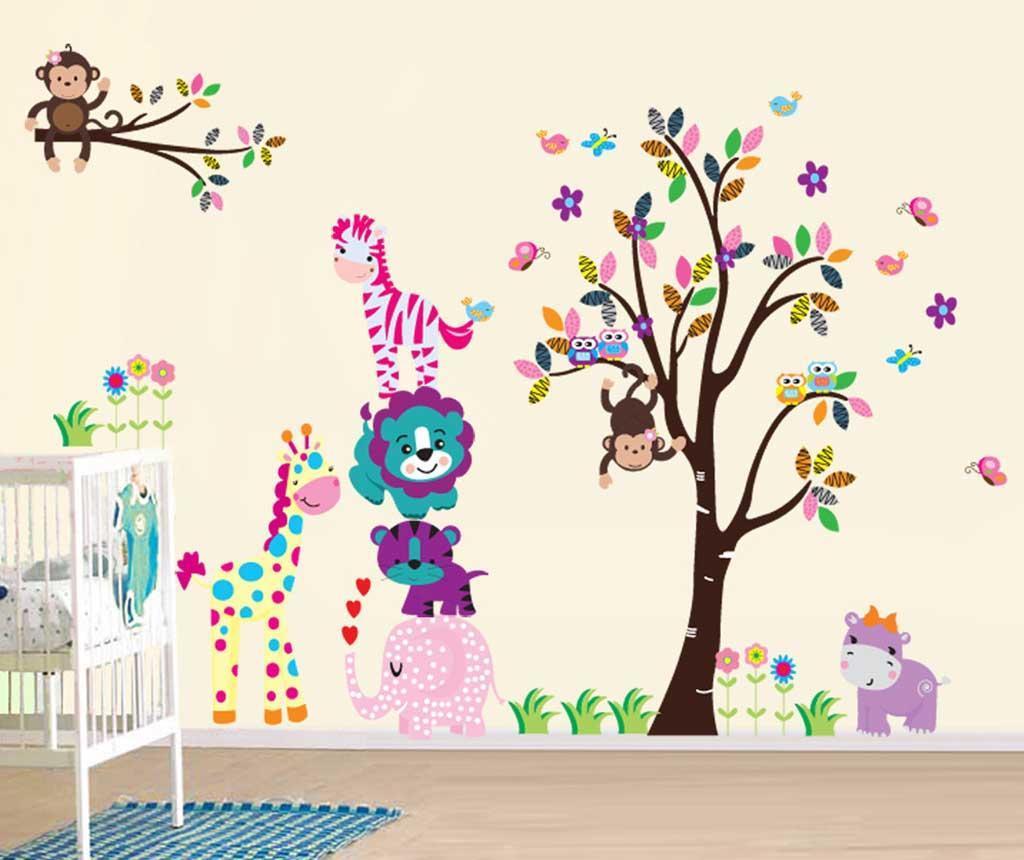 Sticker Funky Jungle Animals - BeeStick, Multicolor