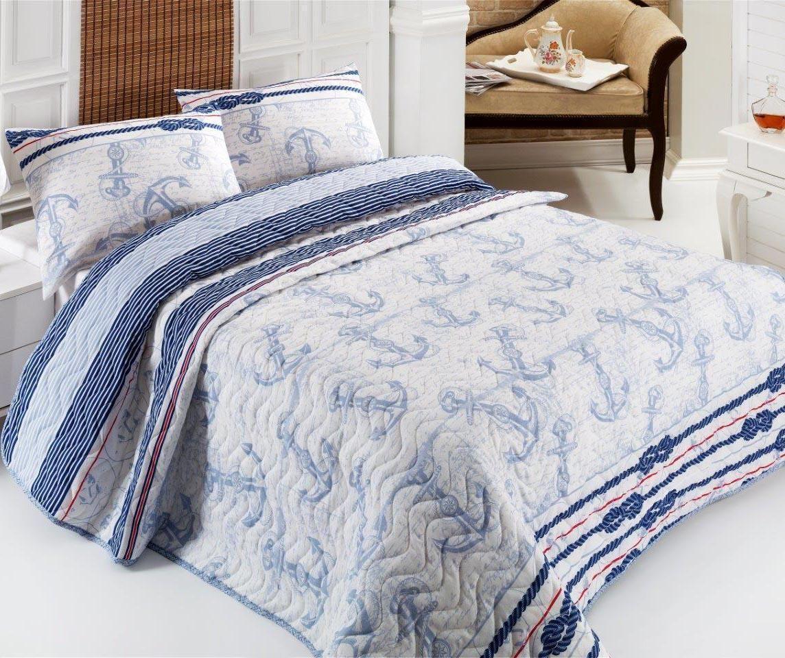 Set cuvertura matlasata Single Cedric Light Blue - Eponj Home, Albastru