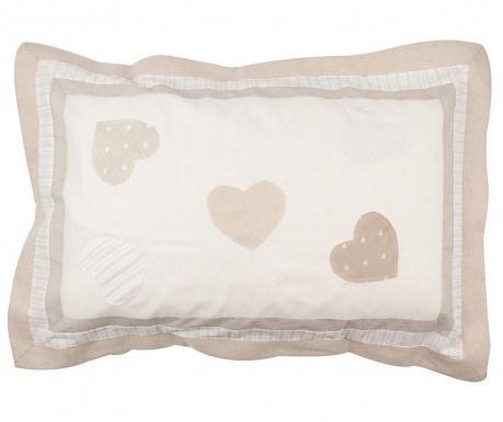 Калъфка за възглавница Three Hearts Patch Beige 52x80 см