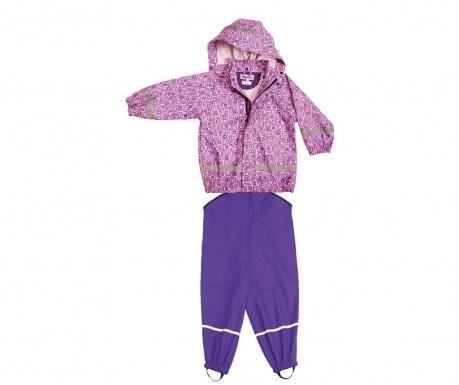 Dětská sada nepromokavá bunda a overal Bimo Mauve 10 měs.