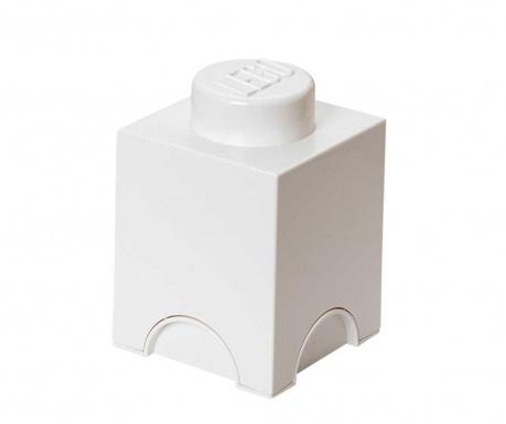 Kutija za pohranu s poklopcem Lego Square White