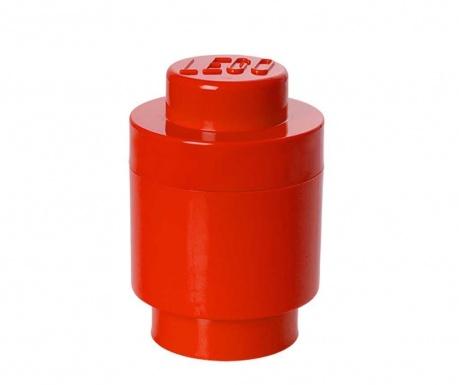 Kutija za pohranu s poklopcem Lego Round Red