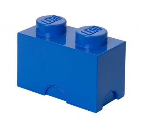 Kutija za pohranu s poklopcem Lego Rectangular Blue