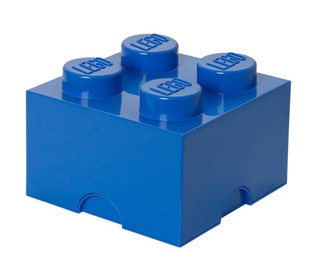 Kutija s poklopcem Lego Square Four Blue