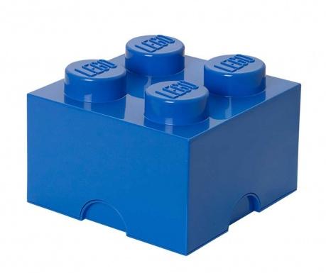 Lego Square Four Blue Doboz fedővel