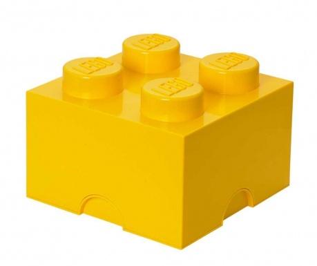 Kutija za pohranu s poklopcem Lego Square Four Yellow