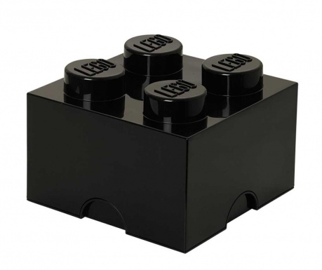 Cutie cu capac Lego Square Four Black