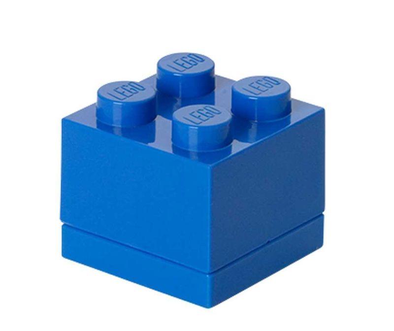 Škatla s pokrovom Lego Mini Square Blue
