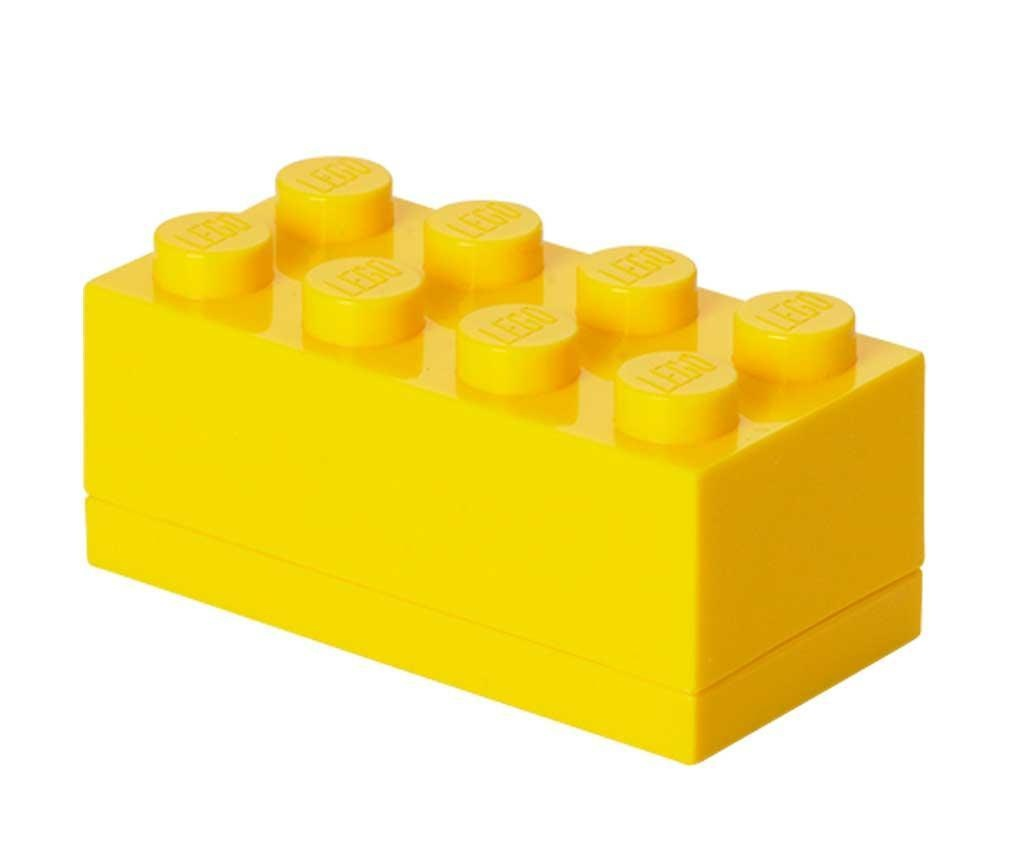 Cutie cu capac Lego Mini Rectangular Yellow
