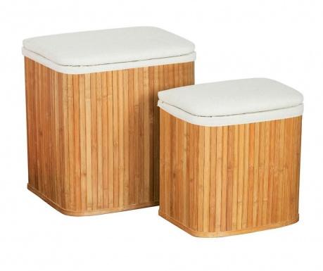 Комплект 2 коша с капак за дрехи Bamboo
