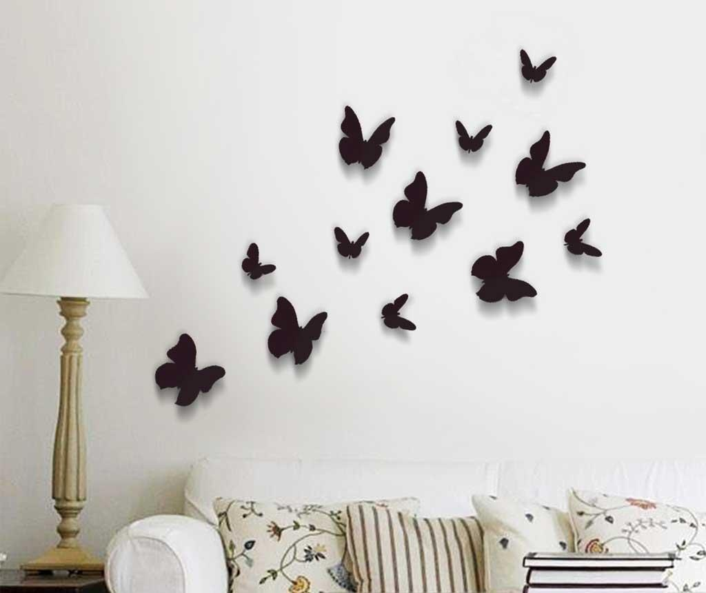 Butterflies Simply Black 12 darab 3D Matrica