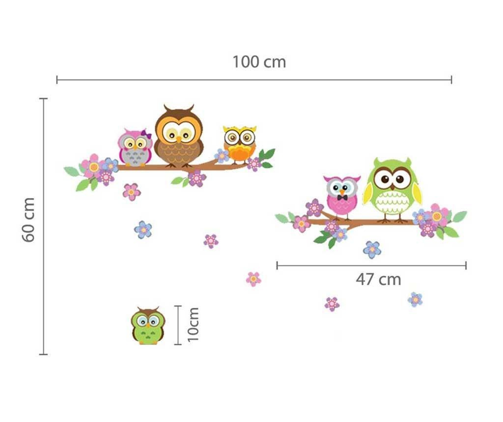 Nalepka Colourful Family of Owls