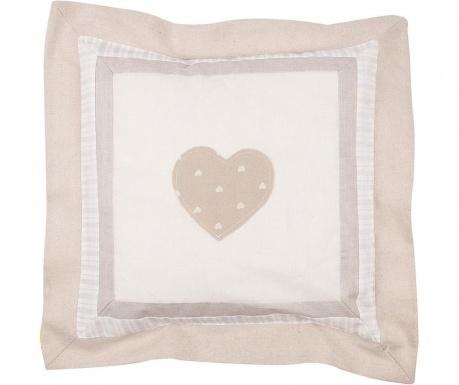 Калъфка за възглавница Central Heart Patch Beige 40x40 см