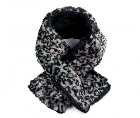 Fular Leopard Print Black