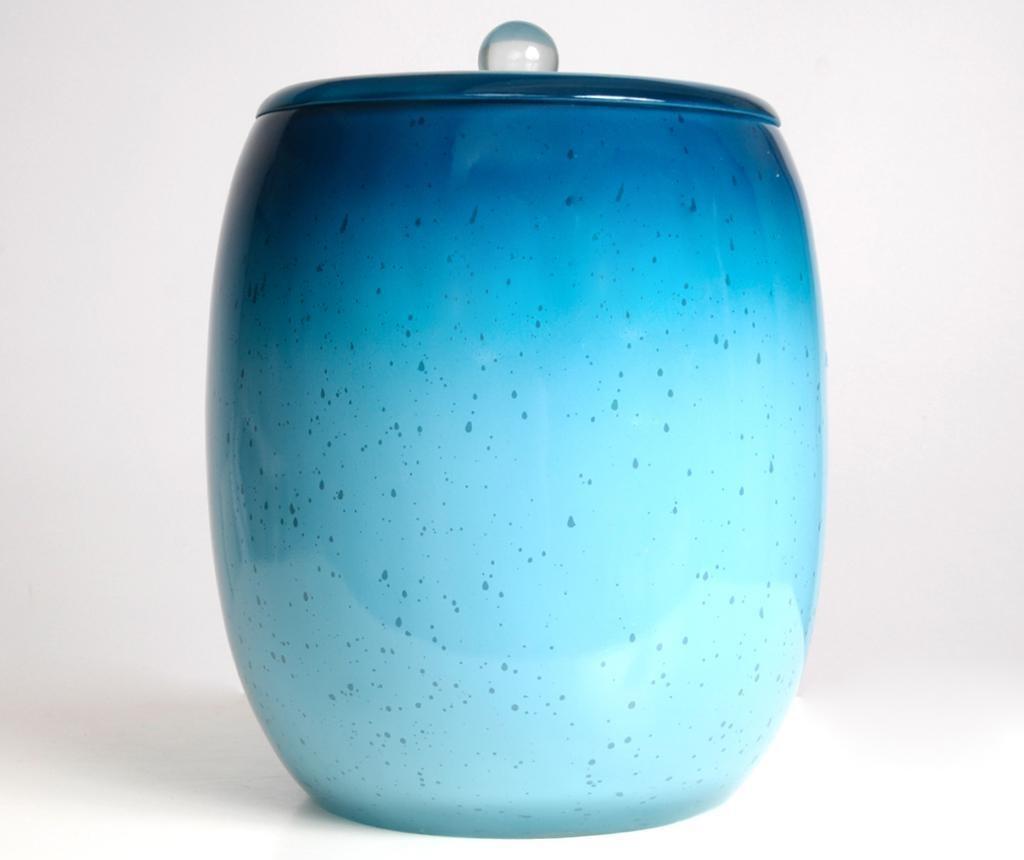 Cos de gunoi cu capac Stria Turquoise 5 L