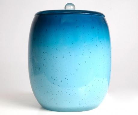 Кош за отпадъци с капак Stria Turquoise 5 L