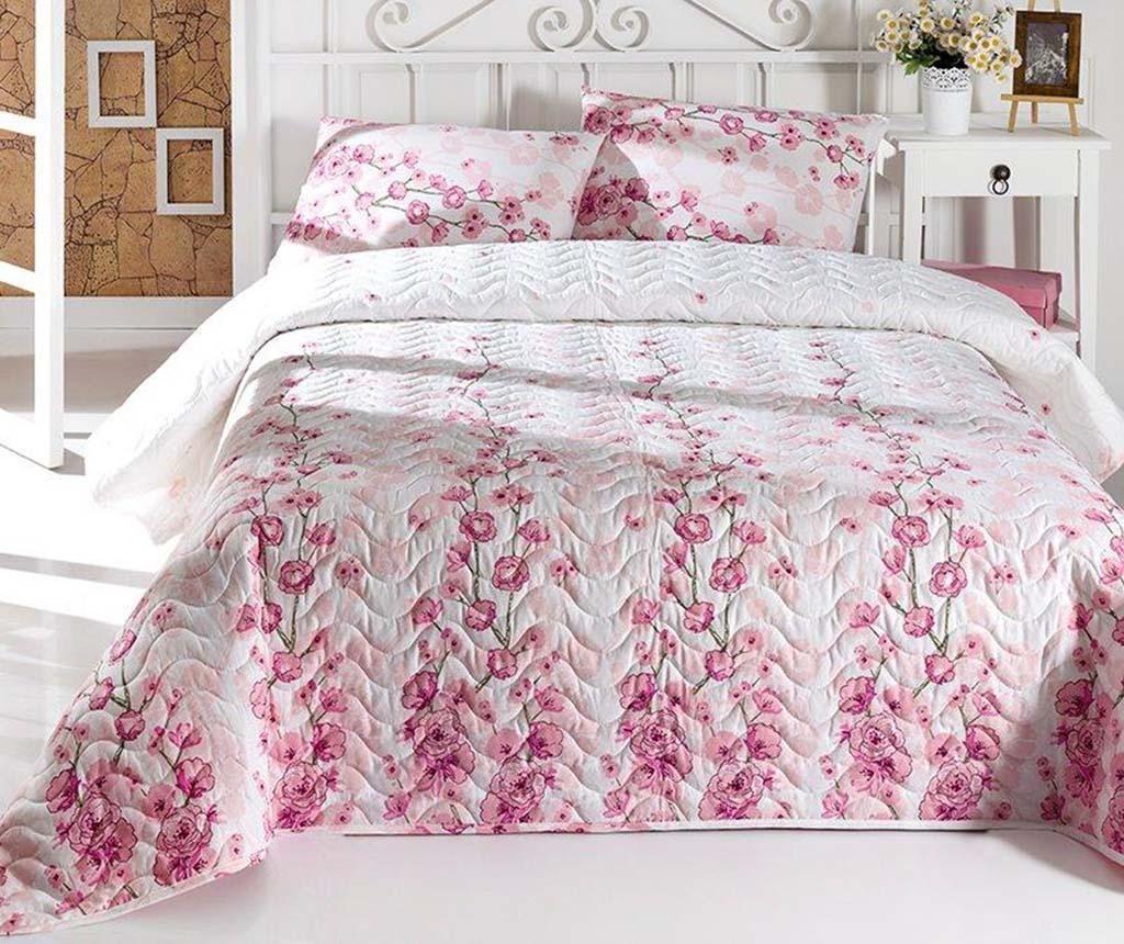 Set cuvertura matlasata Single Coretta Light Pink
