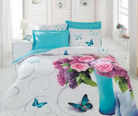 Posteljnina King Ranforce 3D Meri Turquoise