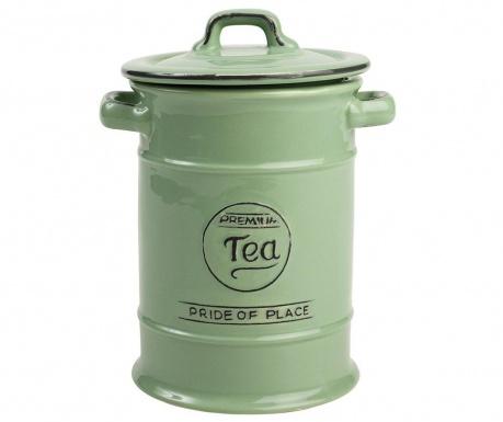 Recipient cu capac pentru ceai Pride Green