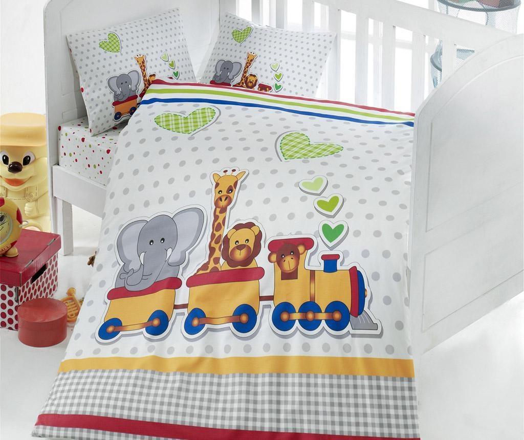Posteljina  za krevetić Ranforce Madagaskar 100x150
