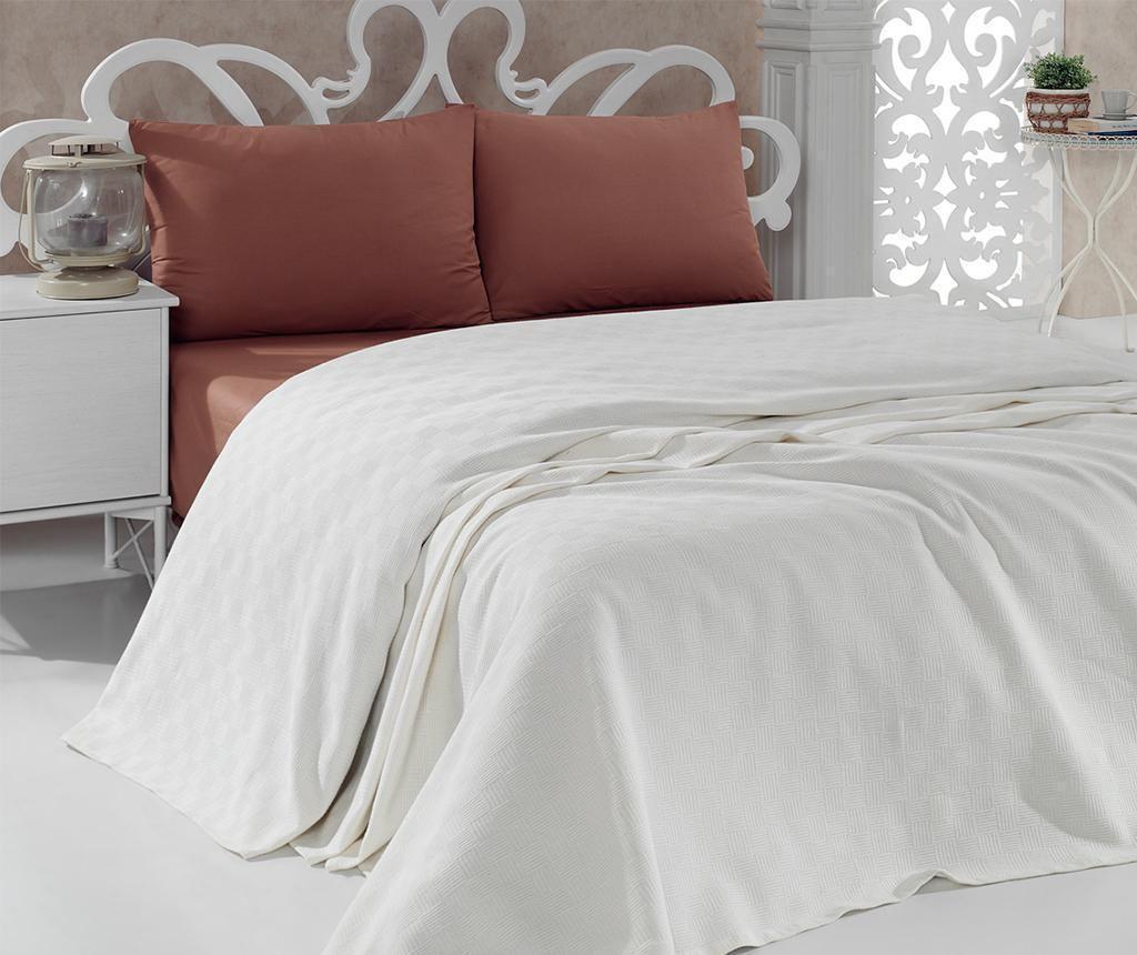 Cuvertura Pique Panthea Cream 200x240 cm - Bella Carine by Esil Home, Alb de la Bella Carine by Esil Home