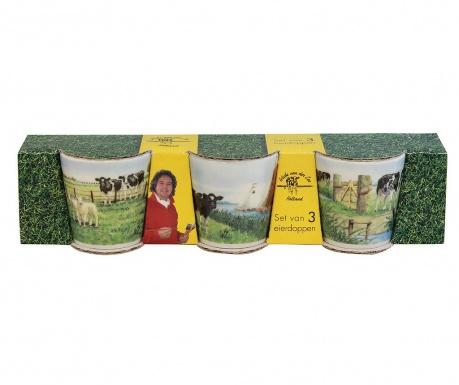 Set 3 suporturi pentru oua fierte Cows on Field