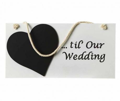 Dekoracja ścienna Wedding