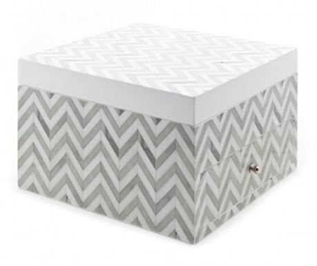 Кутия за бижута с капак Zigzag