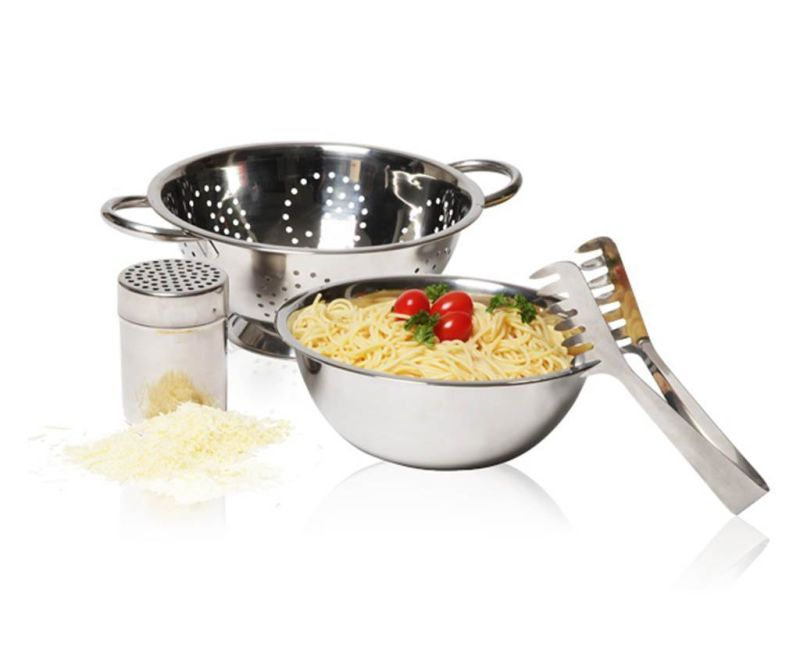 4-dijelni set za tjesteninu Silver