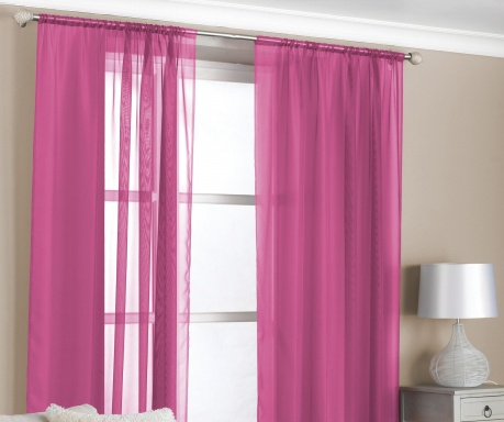 Zestaw 2 zasłon Slot Pink 150x229 cm