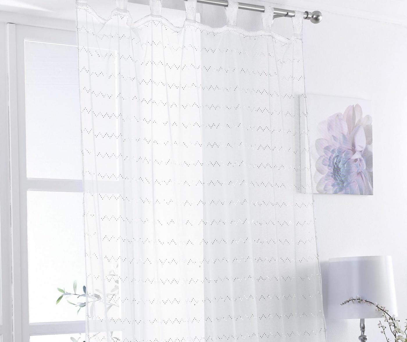 Perdea Zig White 138x225 cm