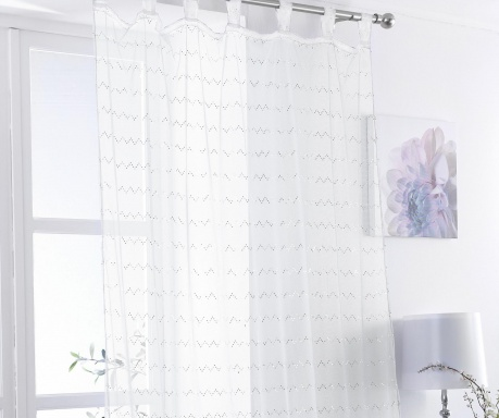 Zasłona Zig White 138x225 cm