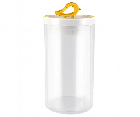 Livio Bird Yellow Tároló fedővel 1.2 L
