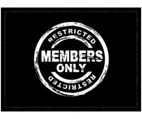 Входна изтривалка Members Only 40x60 см