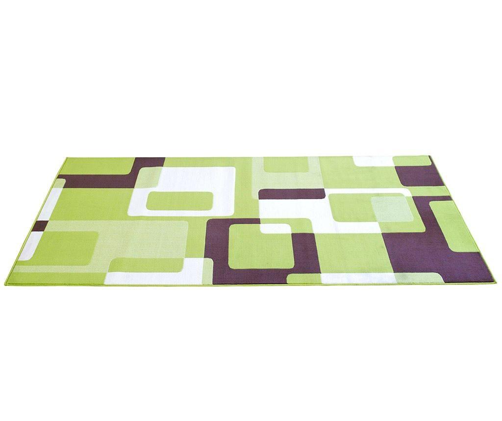 Covor Sinead Green & Cream 80x200 cm