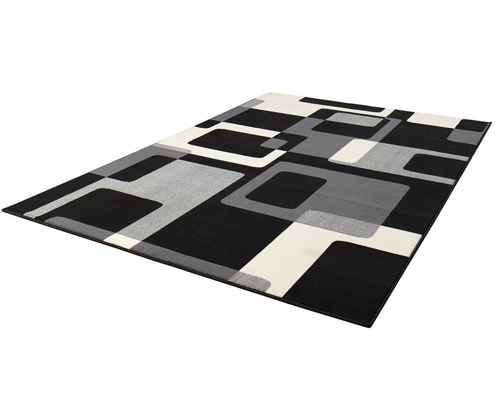 Covor Retro Black & Cream 80x150 cm
