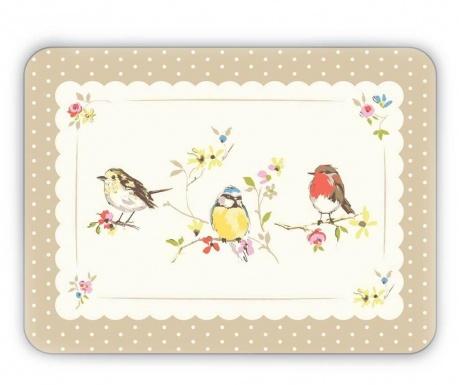 Set 4 individualuri Birds World 21.5x29 cm