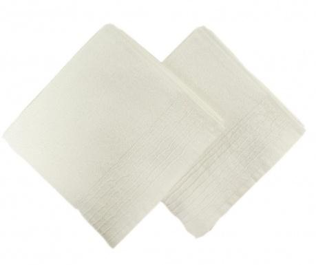 Lines White 2 db Fürdőszobai törölköző 50x90 cm