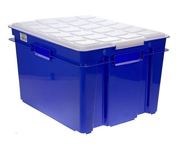 Cutie cu capac pentru depozitare Style Royal Blue
