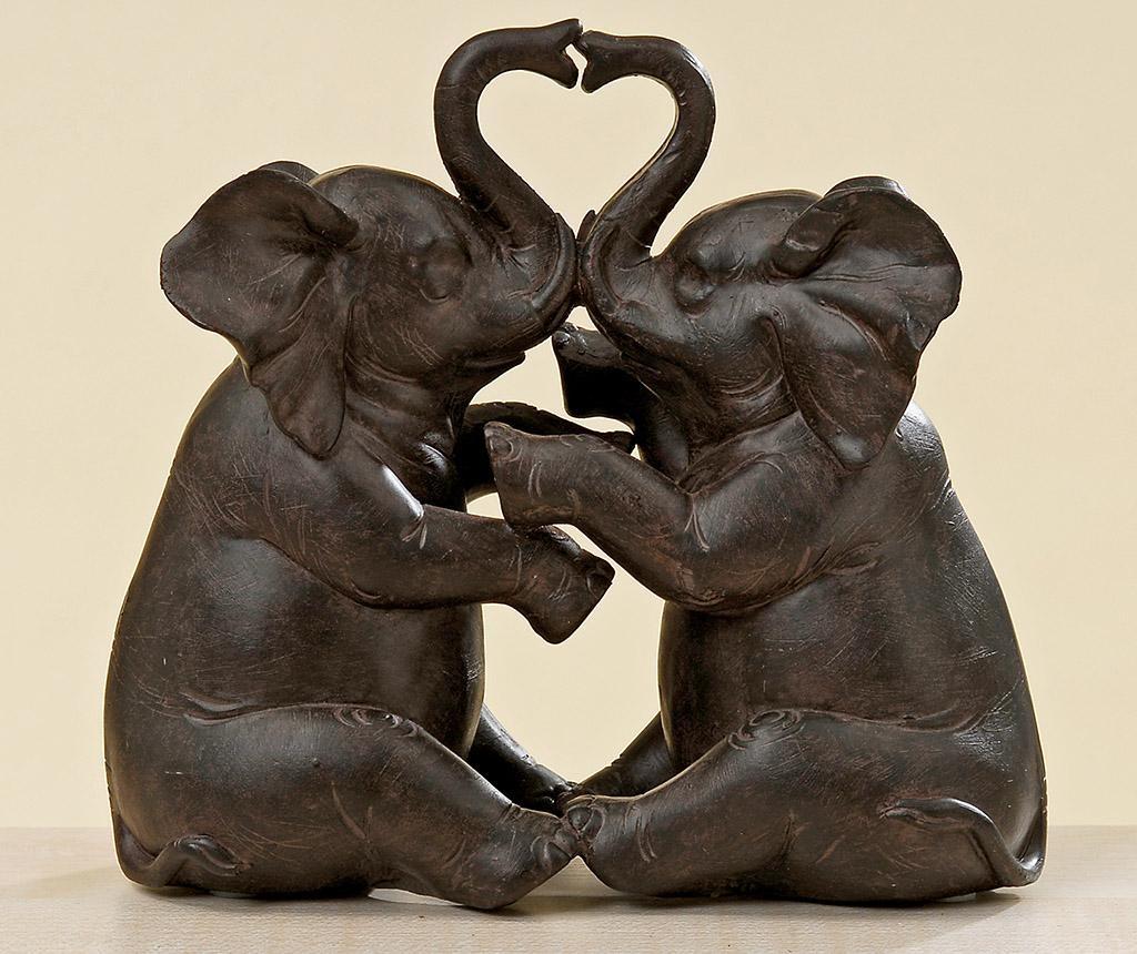 Decoratiune Elephant Couple