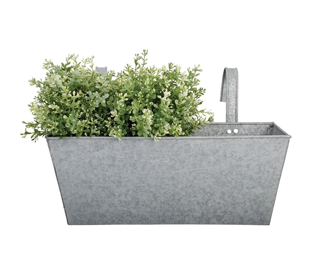 Jardiniera suspendabila Flowy - Esschert Design, Gri & Argintiu