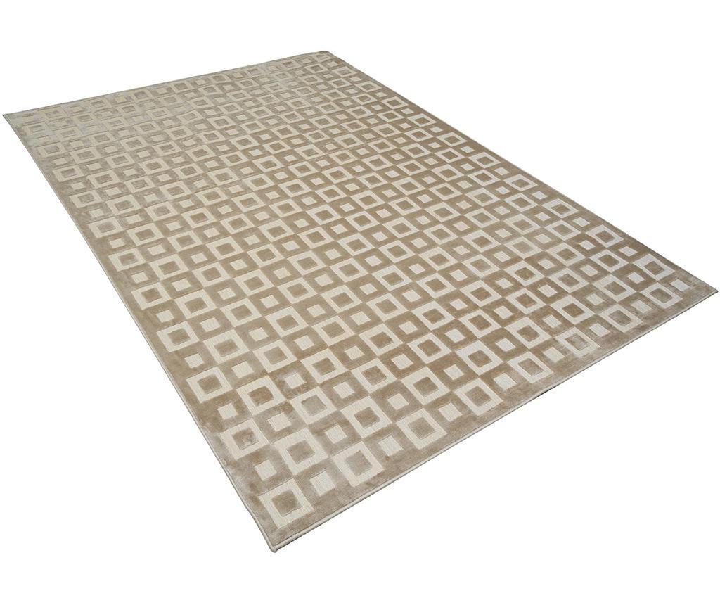 Covor Quadro 60x120 cm - Viva, Gri & Argintiu