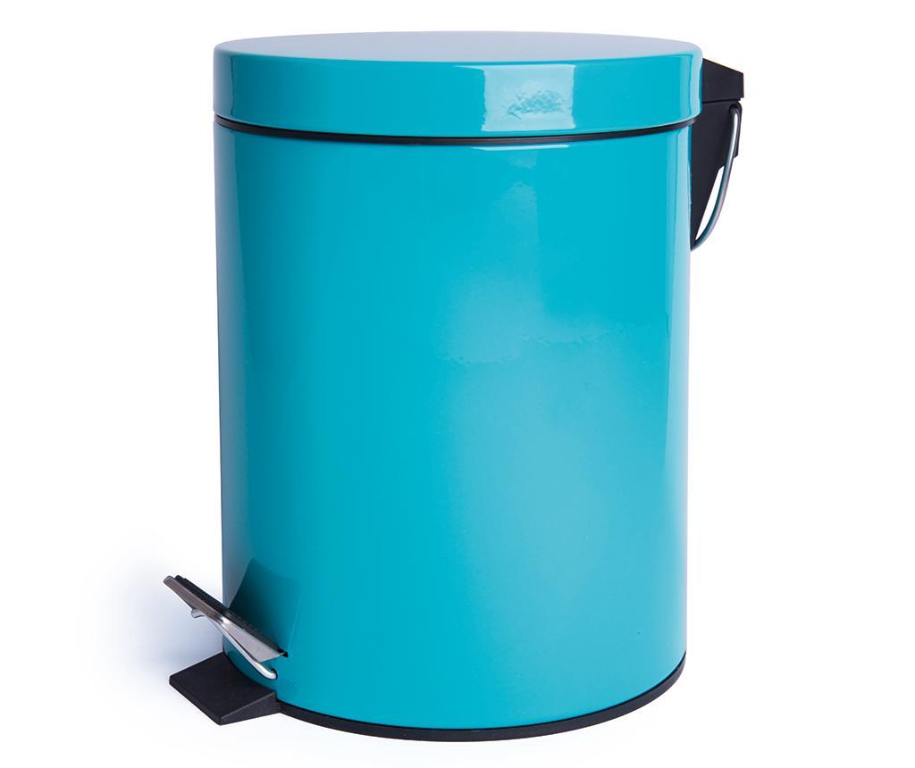 Cos de gunoi cu capac si pedala Complete Light Blue 5 L - Excelsa, Albastru