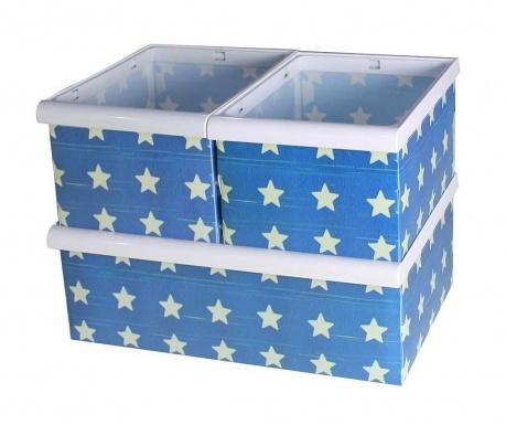 Set 3 cutii pliabile pentru depozitare Star
