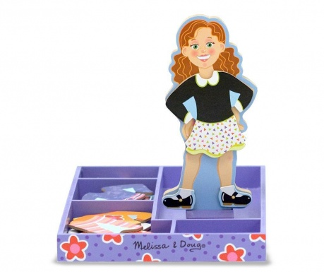 Set figurina si accesorii magnetice Dress Up Maggie Leigh