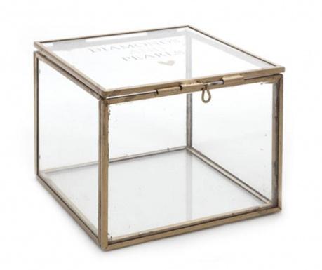 Кутия за бижута с капак Diamonds and Pearls Square