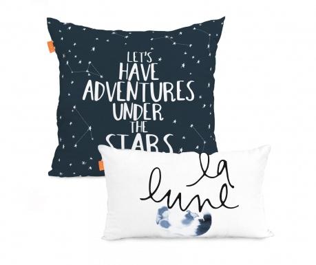 Sada 2 obliečky na vankúše Constellation Mix