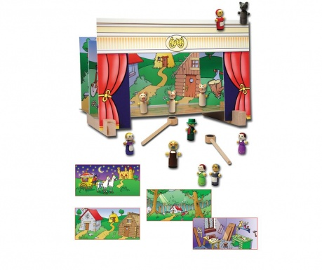 Teatru de jucarie cu magneti Play Time